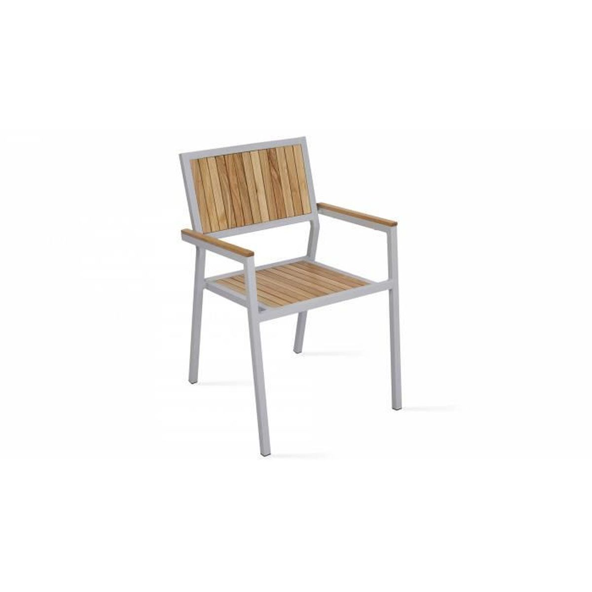 Emejing table de jardin bois et aluminium images amazing for Chaise de table en bois