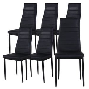 lot de 6 chaises achat vente lot de 6 chaises pas cher cdiscount. Black Bedroom Furniture Sets. Home Design Ideas