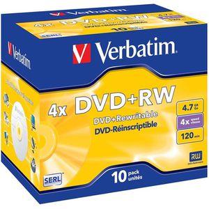 CD - DVD VIERGE Verbatim DVD+RW 4x (10)