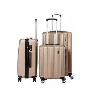 SET DE VALISES Lot de 3 valises rigide 8 roues LYS B1516/3/TAUPE