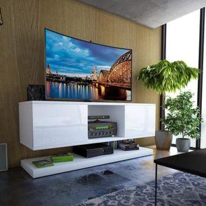 MEUBLE TV Meuble TV / Meuble de salon WIZZ - 140 cm - blanc