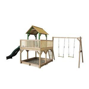 MAISONNETTE EXTÉRIEURE AXI maison enfant exterieur en bois Atka avec Doub