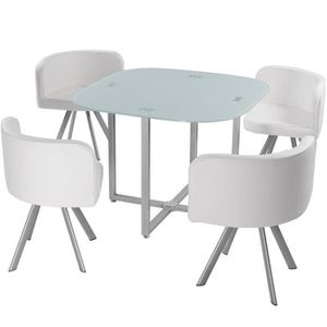 Table avec chaise encastrable achat vente table avec for Place a table par personne
