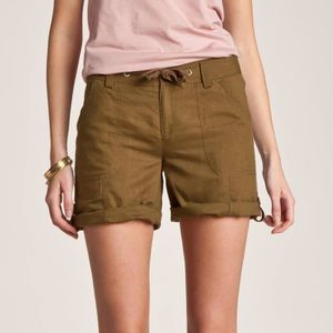 SHORT Short battle retroussable femme lin-coton 3SUISSES