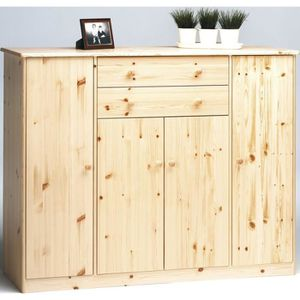 buffet bois naturel achat vente buffet bois naturel pas cher cdiscount. Black Bedroom Furniture Sets. Home Design Ideas