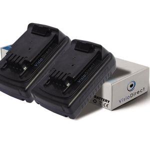 BATTERIE MACHINE OUTIL Lot de 2 batteries pour Black et Decker ASL188K pe