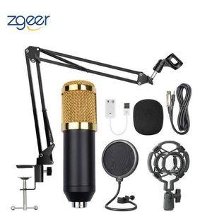 MICROPHONE - ACCESSOIRE Kit de microphone à condensateur microphone + supp