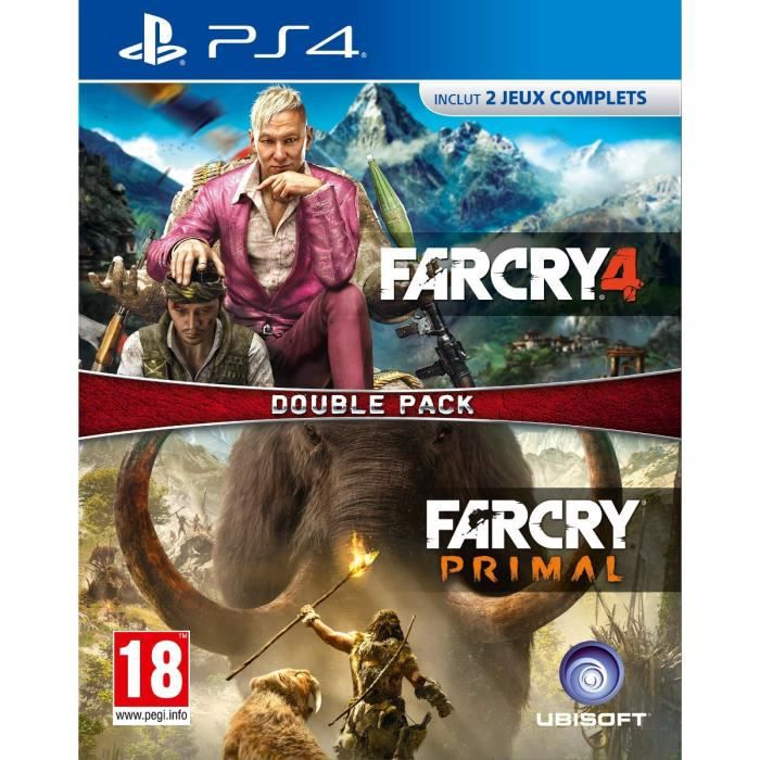 Compil Far Cry 4 + Far Cry Primal Jeu PS4