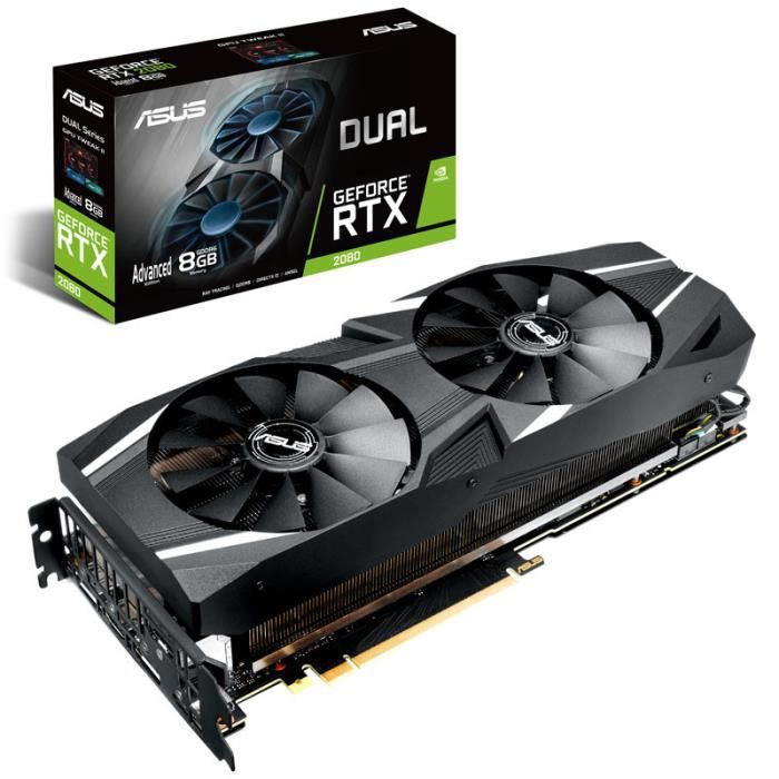 Carte graphique ASUS Dual GeForce RTX 2080 Advanced Edition 8GB GDDR6