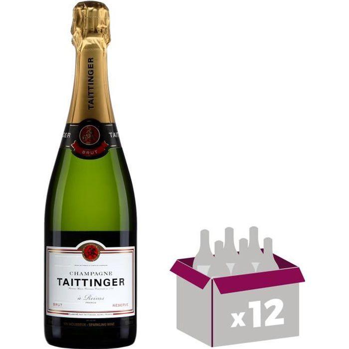12X Taittinger Brut Réserve 75cl - Champagne