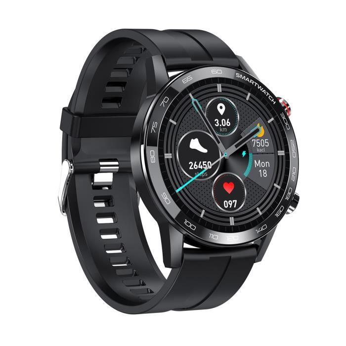 2020 nouveau 360 * 360IPS HD rétine écran Sport montre intelligente pour hommes ECG tension artérielle sport montre - Black - WL5750