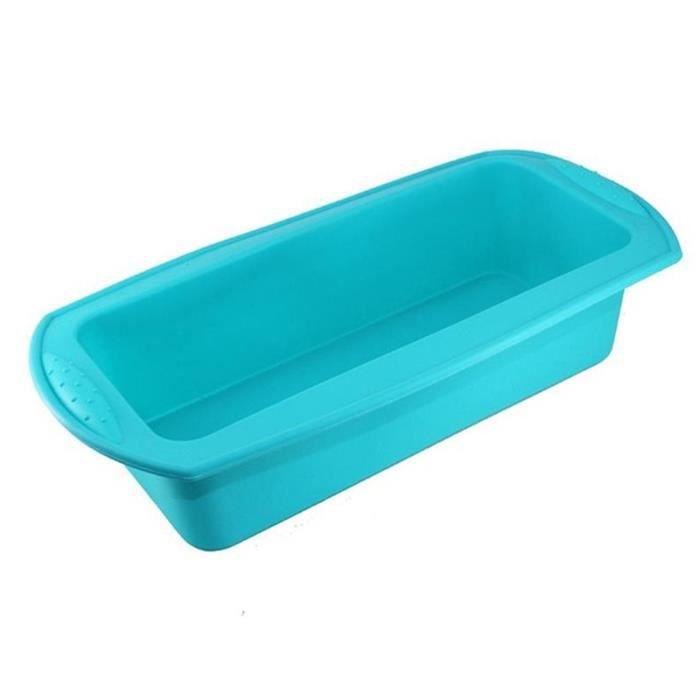 Moule à gâteaux en Silicone de cuisine Rectangle Bricolage moule à pain à Toast outils de pâtisserie et - Type blue-Rectangulaire