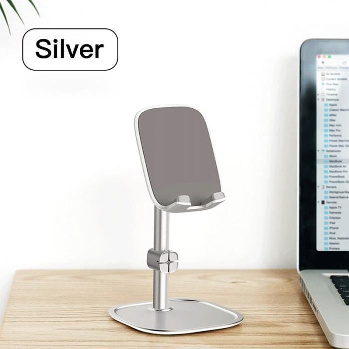 Supports voiture,Support de téléphone de bureau télescopique Baseus pour tablette support de bureau support - Type Silver Normal
