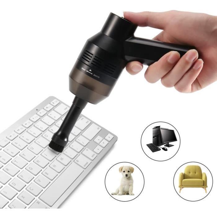 CrazyFire Kit d'Aspirateur Clavier,Rechargeable Mini USB Aspirateur Sans Fil Portable pour Clavier Keyboard Ordinateur Souris PC, Bo