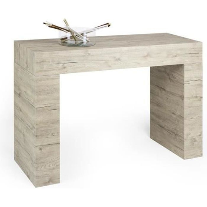 Mobili Fiver, Table console, Evolution, Chêne naturel, Mélaminé, Made in Italy