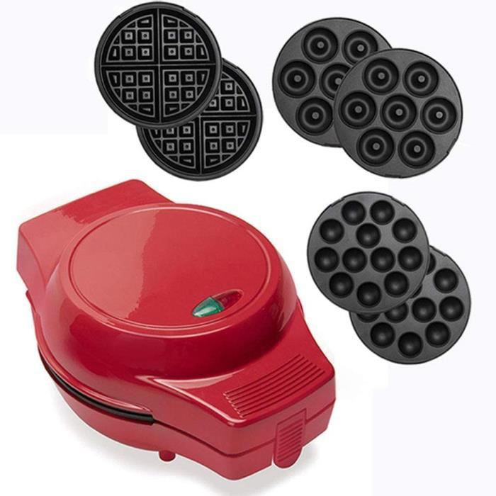 ZXYY Marée Rouge Multi Assiettes en Option Machine à gâteaux électrique Mini Manuel Professionnel Baker Donuts Cupcakes Cup Pops Waf