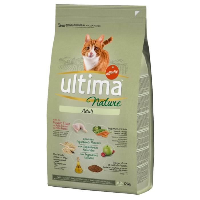 Alimentation pour chat adulte 1250 g ULTIMA NATURE