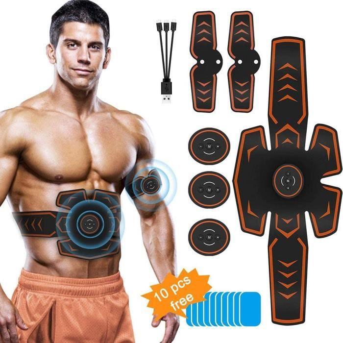 Abdos Appareil Abdominale, Ems Trainer Ceinture Abdominale Homme Musculation Abdominaux Femme Usb, EMS Masseur Abdominal, Stimulateu
