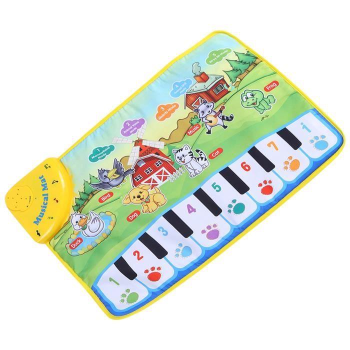 Liukouu bébé tapis de musique enfants rampant piano tapis éducatif jouet musical enfants cadeau