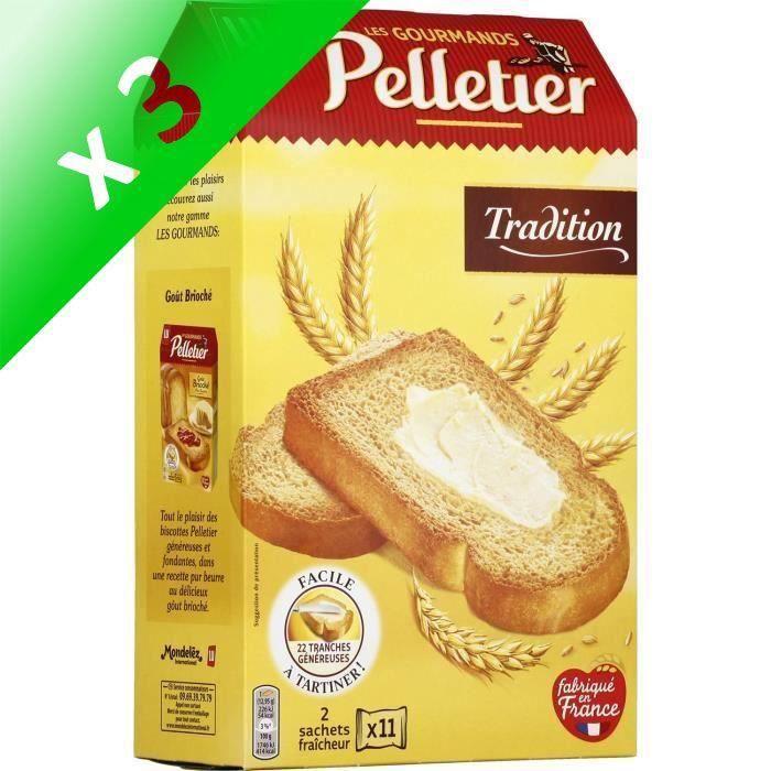 [LOT DE 3] Pain grillé tradition 285g Pelletier