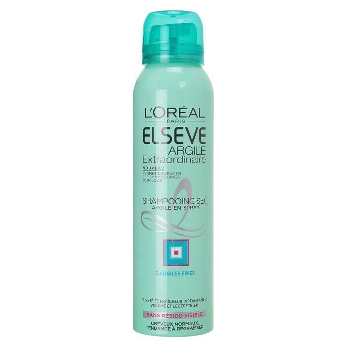 L'OREAL ELSEVE Shampoing Sec Argile - Cheveux Normaux à Gras - 150ml