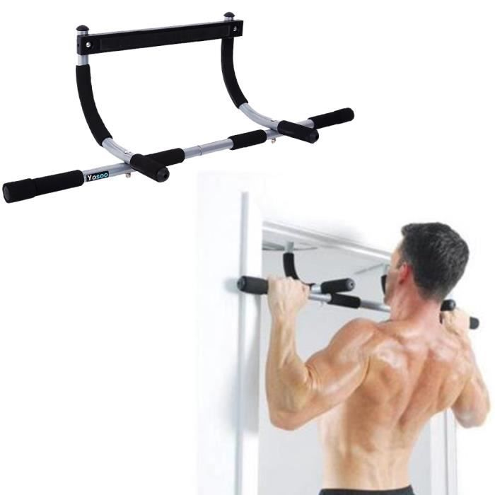 Barres de Traction Barre de Fitness Fixation plafond Exercices Pull Up Bar HB046