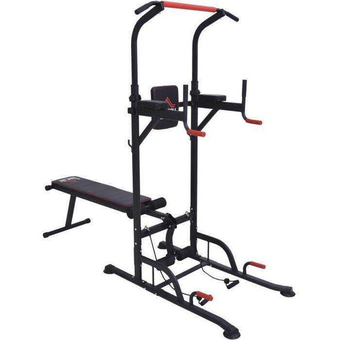 Station de musculation Fitnes 220x98x229cm Rouge