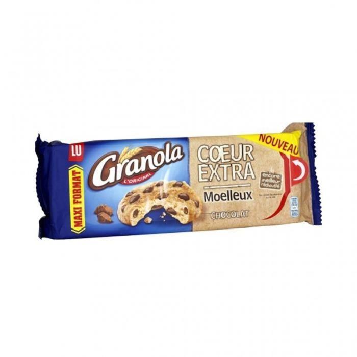 LU Granola L'Original Coeur Extra Moelleux Chocolat Maxi Format 312g (lot de 6)