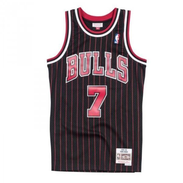 Maillot NBA Tony Kukoc Chicago Bulls 1995-96 Mitchell amp ness Hardwood Classics swingman Noir