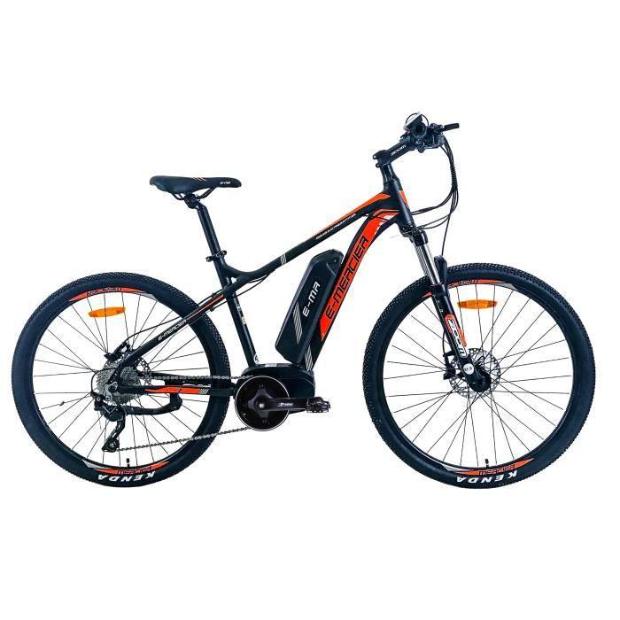 MERCIER Vélo Electrique E-VTT cadre Alu Hydroform F.T. 10 Vitesses 27.5' Orange - moteur électrique central - freins hydrauliques