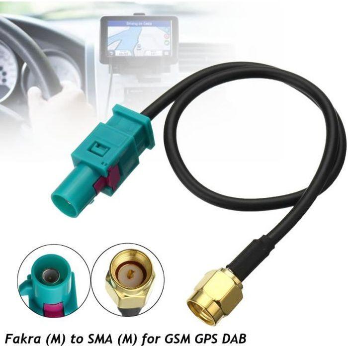 NEUFU 1x Câble Adaptateur d'antenne Fakra Z (M) à SMA (M) Pour GSM GPS DAB