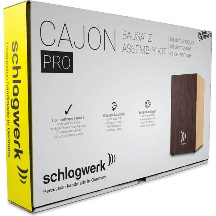 SCHLAGWERK CBA3SW - Kit de montage Cajon Pro - Wengé