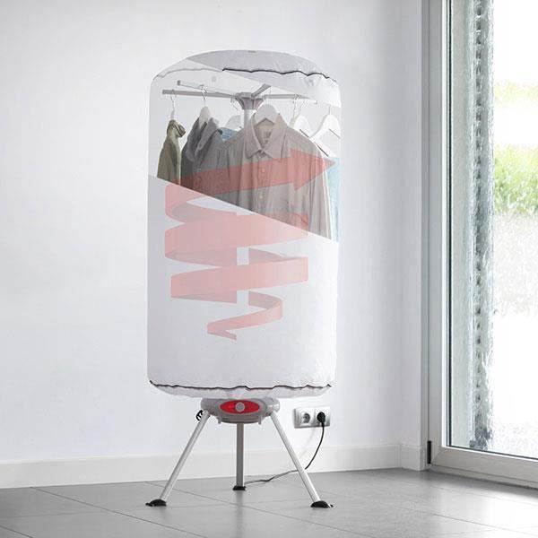 SHOP-STORY - Sèche-Linge Séchoir à Linge Portable à Chaleur Soufflante 1000W Blanc