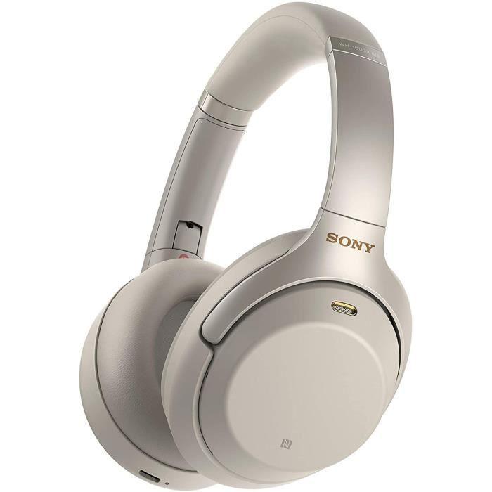 Sony WH-1000XM3 Bluetooth - Casque circum-aural pliable, micro-casque, NFC, suppression du bruit argent