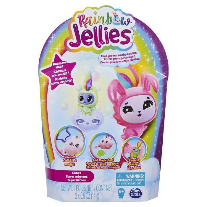 PACK DE 2 Rainbow Jellies - 6056246 - Coffret Kit pour créer ses personnages - Modèle aléatoire - Jouet enfants à partir de 6 ans
