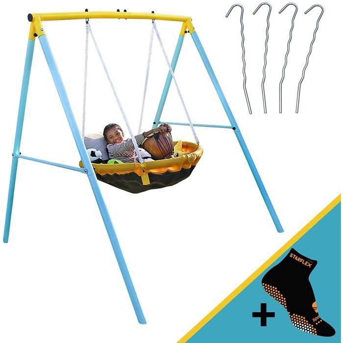 tiny swing portique balançoire nid d'oiseau