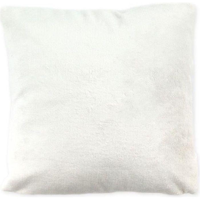 Coussin blanc extra doux 40x40cm COMETE 40 x 40 cm Blanc
