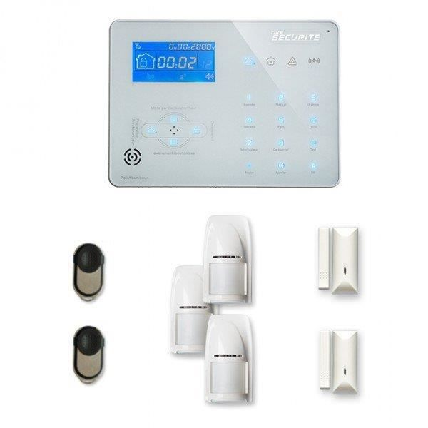Alarme maison sans fil ICE-B 2 à 3 pièces mouvement + intrusion - Compatible Box / GSM