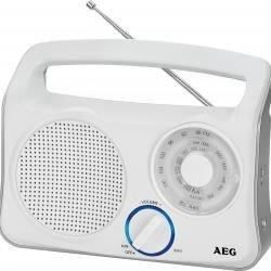 Aeg Tr 4131wh Radio Portable 3 Bandes Fm/am/lw - Antenne Télescopique Blanc