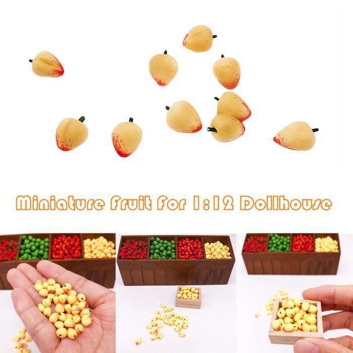 1:12 scale 6 pommes Une Maison de Poupées Miniature Fruit Cuisine