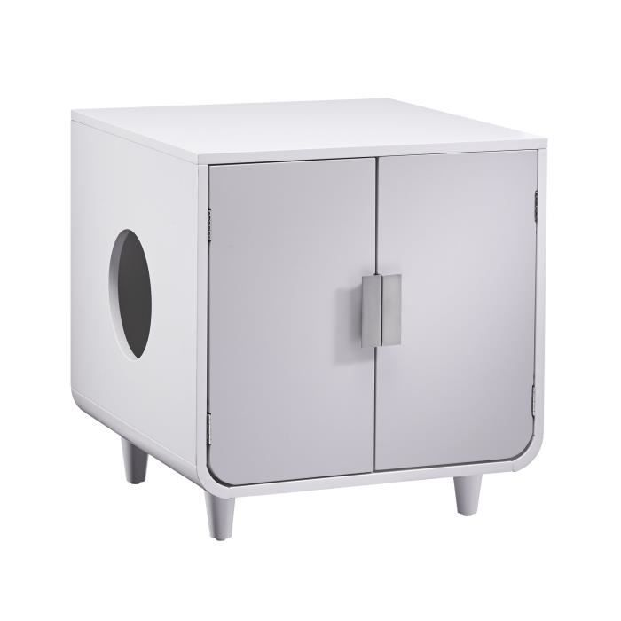 BAC À LITIÈRE Boîte à litière pour chat en bois Dyad Couleur Bla