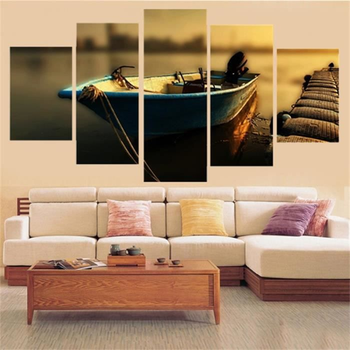 poster mural bateau achat vente pas cher. Black Bedroom Furniture Sets. Home Design Ideas