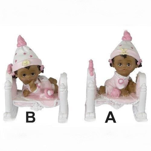 d cors figurines de bapt me sujet b b fille de couleur achat vente figurine d cor g teau. Black Bedroom Furniture Sets. Home Design Ideas