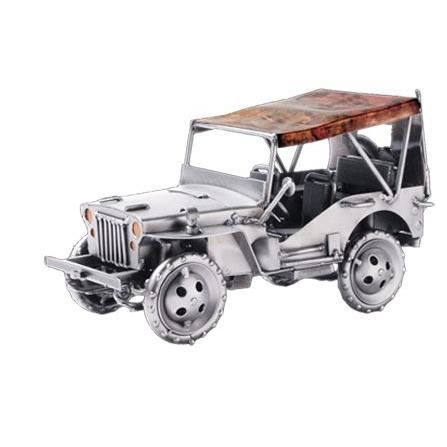 jeep willys hinz kunst en acier achat vente objet d coratif acier carton cdiscount. Black Bedroom Furniture Sets. Home Design Ideas