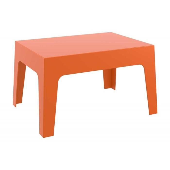 Table basse de jardin en plastique orange 50x70x43 cm MDJ10171 ...