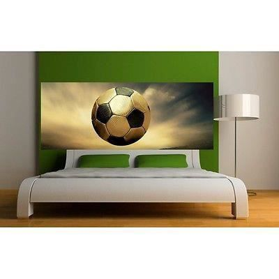 papier peint t te de lit ballon de foot 3655 dimensions. Black Bedroom Furniture Sets. Home Design Ideas