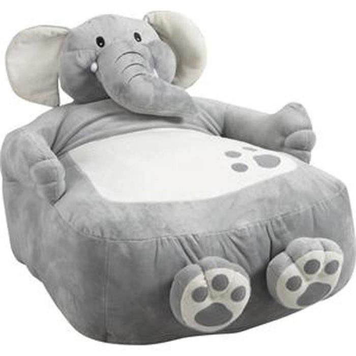 fauteuil pouf l phant pour enfant en coton et achat. Black Bedroom Furniture Sets. Home Design Ideas