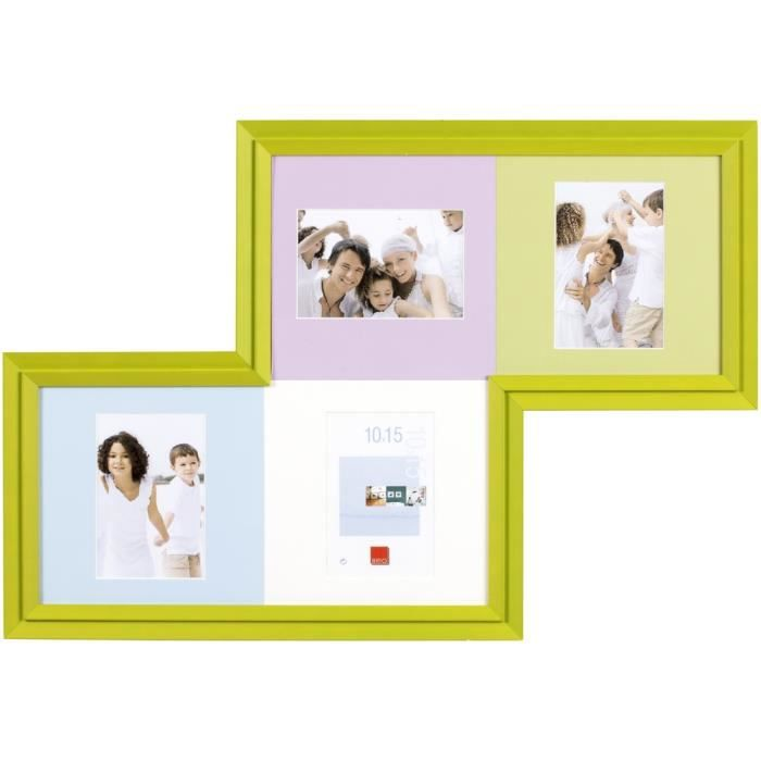 brio cadre photo multivues tetrix vert 60x40 cm achat vente cadre photo soldes d t. Black Bedroom Furniture Sets. Home Design Ideas