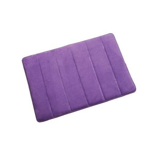 petit tapis de salle de bain en mousse visco lastique violet 60 x 40 cm ach. Black Bedroom Furniture Sets. Home Design Ideas