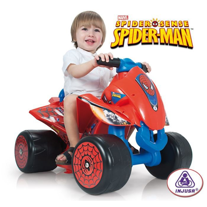 spiderman quad electrique 6v achat vente quad kart buggy cdiscount. Black Bedroom Furniture Sets. Home Design Ideas